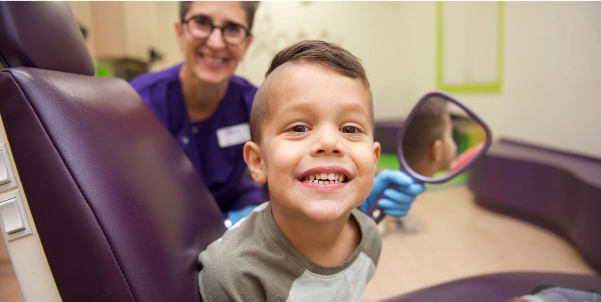Dr. Laura Adelman and one of her patients. Children's dentist near me.