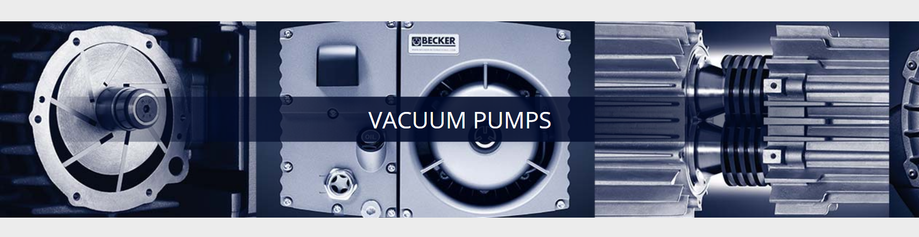 Becker industrial vacuum pumps.