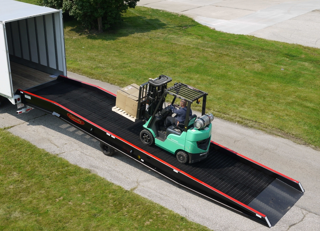 portable forklift ramp