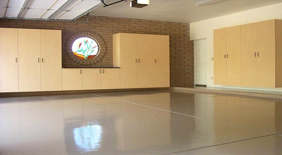 Finished Garage Floor | Polyaspartic Garage Floor Coating Cost